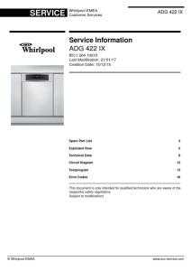 whirlpool adg 422 ix dishwasher service manual