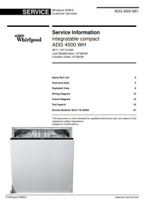 Whirlpool ADG 4500 WH Dishwasher Service Manual | eBooks | Technical