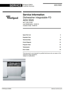 Whirlpool ADG 5520 Dishwasher Service Manual | eBooks | Technical
