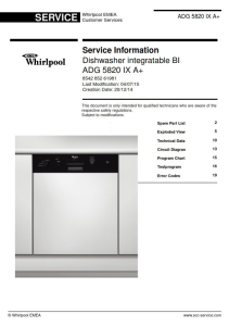 whirlpool adg 5820 ix a+ dishwasher service manual