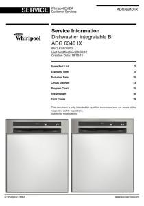 whirlpool adg 6340 ix dishwasher service manual