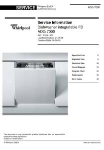 whirlpool adg 7000 dishwasher service manual