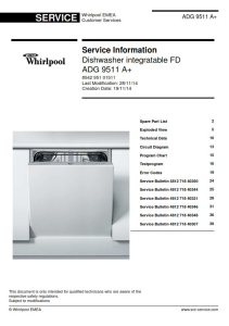 Whirlpool ADG 9511 A+ Dishwasher Service Manual | eBooks | Technical