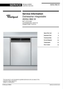 whirlpool adgu 862 ix dishwasher service manual