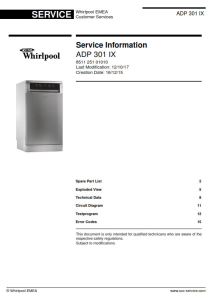 whirlpool adp 301 ix dishwasher service manual
