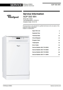 whirlpool adp 500 wh dishwasher service manual