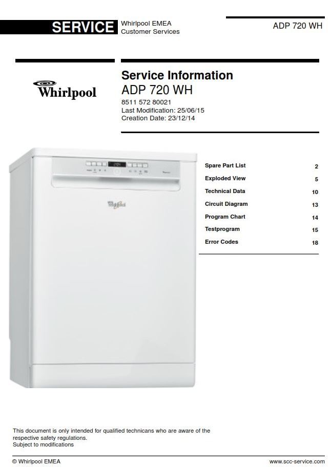 whirlpool adp 720 wh dishwasher service manual ebooks