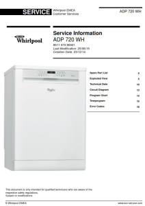 whirlpool adp 720 wh dishwasher service manual