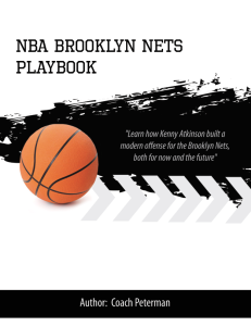Brooklyn Nets Offense Playbook | eBooks | Sports