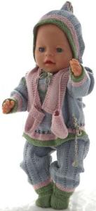 dollknittingpatterns 0180d karitas - genser, lue, bukse, kortermet genser, sokker, votter og skjerf-(norsk)