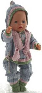 dollknittingpatterns 0180d karitas - trui, broek, trui met korte mouwen, muts, sokken, sjaal, wanten-(nederlands)