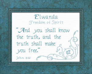 Name Blessings - Elwanda | Crafting | Cross-Stitch | Religious