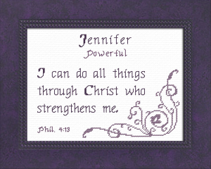 Name Blessings - Jennifer 4 | Crafting | Cross-Stitch | Religious