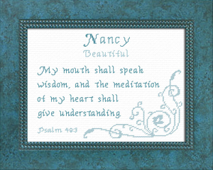 Name Blessings - Nancy 2 | Crafting | Cross-Stitch | Religious