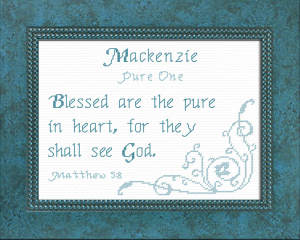 Name Blessings - Mackenzie 2 | Crafting | Cross-Stitch | Religious