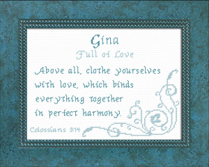 Name Blessings - Gina 2 | Crafting | Cross-Stitch | Other