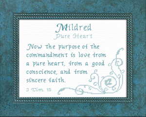 Name Blessings - Mildred   Crafting   Cross-Stitch   Other