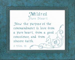 name blessings - mildred
