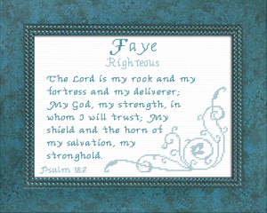 Name Blessings - Faye 2 | Crafting | Cross-Stitch | Religious