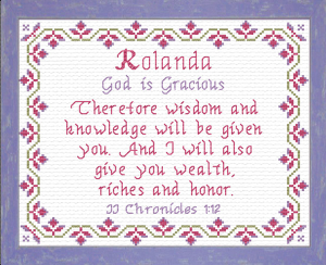 Name Blessings - Rolanda | Crafting | Cross-Stitch | Religious