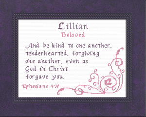 Name Blessings - Lillian 2 | Crafting | Cross-Stitch | Other