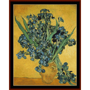 Irises (Amsterdam) - Van Gogh cross stitch pattern by Cross Stitch Collectibles | Crafting | Cross-Stitch | Wall Hangings