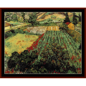 Field with Poppies - Van Gogh cross stitch pattern by Cross Stitch Collectibles | Crafting | Cross-Stitch | Wall Hangings