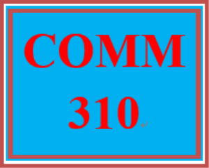 COMM 310 Week 3 Supporting One-Point Outline | eBooks | Education