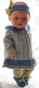 DollKnittingPatterns 0181D PERNILLE - Kjole, leggings, hårbånd og sko-(Norsk) | Crafting | Knitting | Other