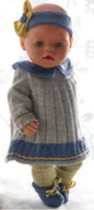 dollknittingpatterns 0181d pernille - kleid, leggings, haarband und schuhe-(deutsch)