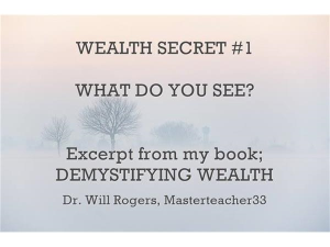 demystifying wealth