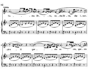 casta diva... fine al rito. aria for soprano (norma). v. bellini: norma, vocal score, ed. ricordi (pd). italian.