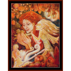 Autumn Woman - Fantasy cross stitch pattern by Cross Stitch Collectibles | Crafting | Cross-Stitch | Other