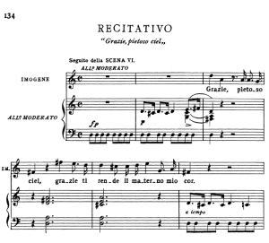 grazie pietoso ciel. recitative for soprano (imogene). v. bellini: il pirata,  vocal score, ed. ricordi (pd). italian