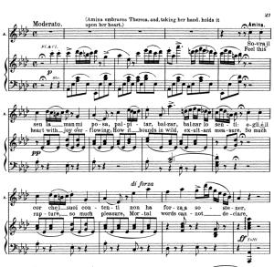 sovra il sen la mano mi posa. aria for soprano (amina). v. bellini: la sonnambula, vocal score, ed. schirmer (1902). italian/english