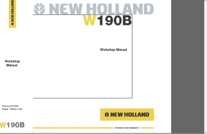 new holland w190b wheel loader service repair workshop manual