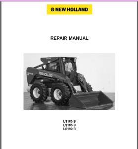 new holland ls180.b ls185.b ls190.b loader service manual