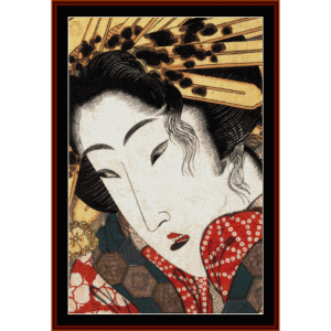 rejected geisha - asian art cross stitch pattern by cross stitch collectibles