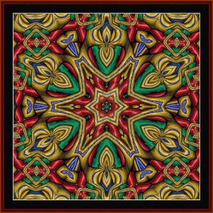 Fractal 647 cross stitch pattern by Cross Stitch Collectibles | Crafting | Cross-Stitch | Wall Hangings