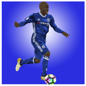 ngolo kante - digital vector art