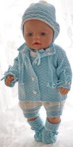 dollknittingpatterns 0182d alma marie - bukse, jakke, luer og sokker-(norsk)