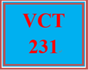 VCT 231 Week 5 Revised Individual: Final Company Video Project | eBooks | Education
