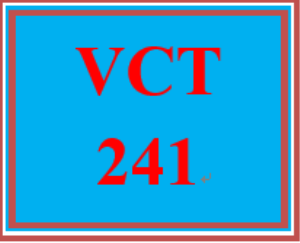 VCT 241 Week 4 Individual: Profile Page | eBooks | Education