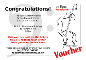 Bass Academy Lessons Premium Voucher | eBooks | Education