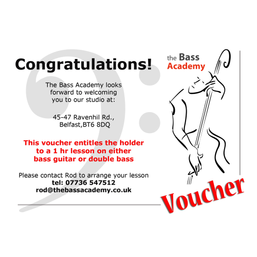 First Additional product image for - Bass Academy Lesson Voucher