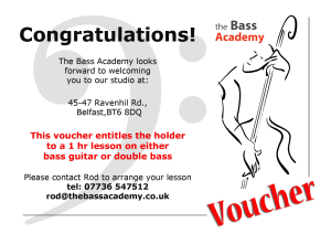 bass academy lesson voucher