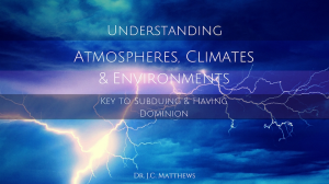 atmospheres, climates and environments