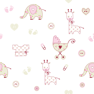 Baby shower seamless pattern | Other Files | Graphics