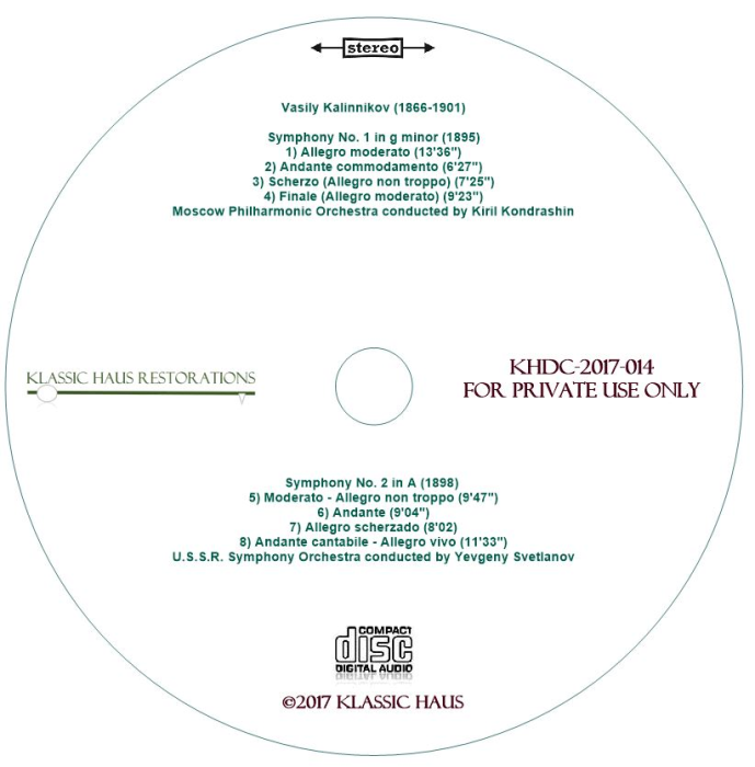 Second Additional product image for - Vasily Kalinnikov: Symphonies Nos. 1 & 2