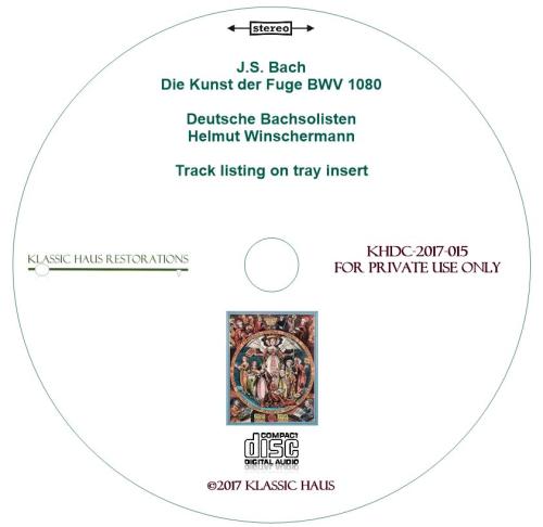 Second Additional product image for - Johann Sebastian Bach: Die Kunst der Fuge (The Art of the Fugue) BWV 1080 - Winschermann